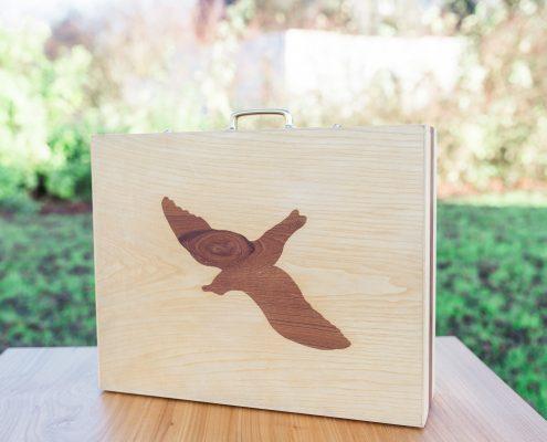 Koffer met zwaluwstaarten